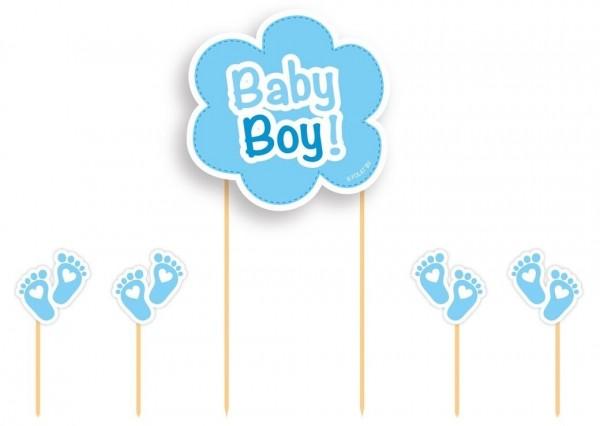 5 pz. Set di decorazione per torta Baby Boy
