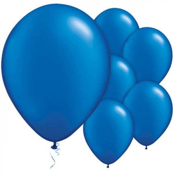 25 globos de látex azul zafiro 28cm