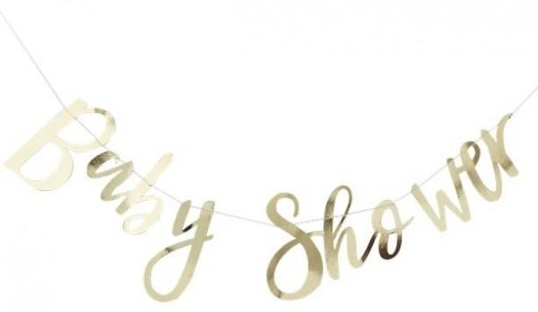 Guirnalda de baby shower dorada 1,5 m