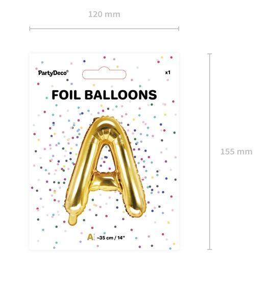 Folienballon A gold 35cm 3