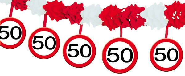 Traffic sign 50 garland 4m