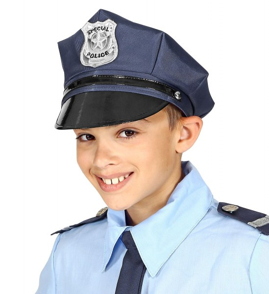 Gorro de policía clásico para niños