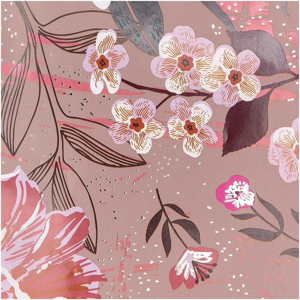 FSC sea of flowers wrapping paper