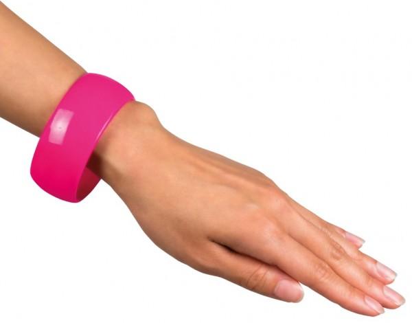 Retro Neon Armreifen Pink