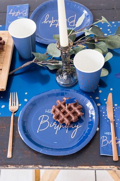Happy Birthday 10 Servietten Elegant blue 3