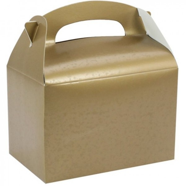 Caja regalo rectangular dorado 15cm