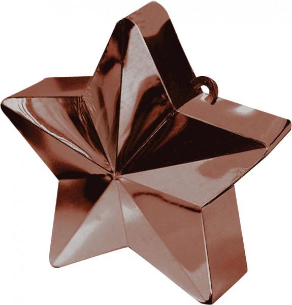 Gewicht ballon in chocoladebruin