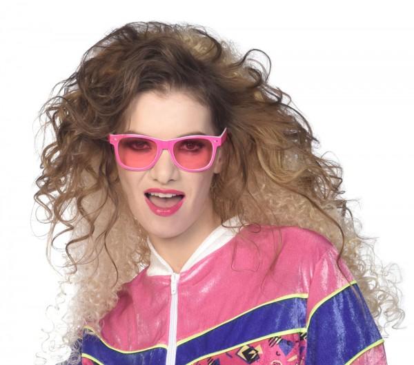 Pinke 80er Jahre Brille Candy