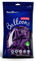 10 Partystar metallic Ballons lila 27cm