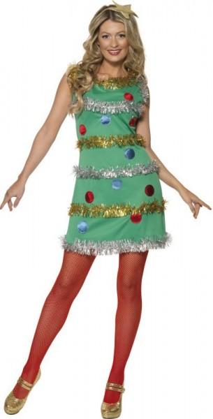 Kerstboom kostuum voor dames