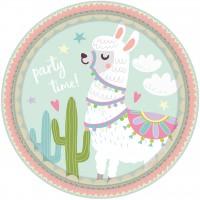 8 Lama Party Teller 23cm