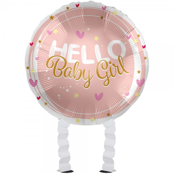 Baby Girl Bär Airwalker Folienballon 43cm
