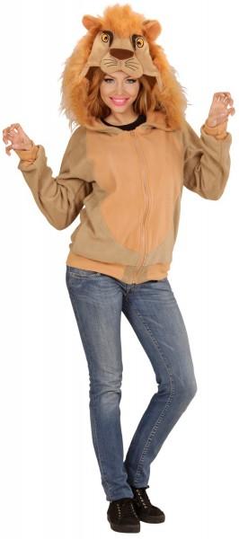 Plüschige Löwen Sweatshirtjacke