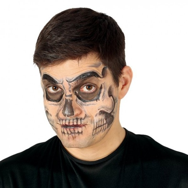 Totenkopf Gesichtstattoo
