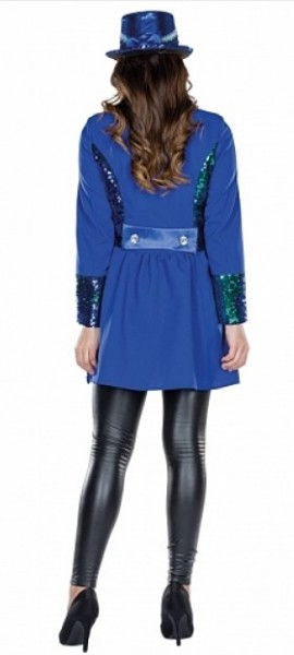 Blaue Showgirl Pailleten Jacke Lucy
