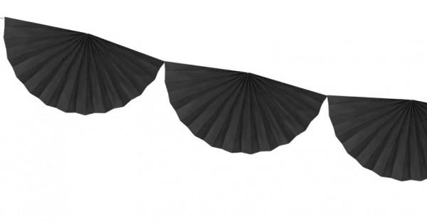 Rosetten Girlande Daphne schwarz 3m x 30cm