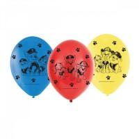 6 Paw Patrol Action Luftballons 23cm