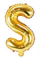 Folienballon S gold 35cm