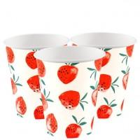 8 Erdbeer Partybecher 250ml