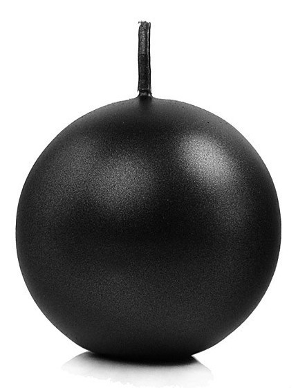 10 ball candles in black 6 cm