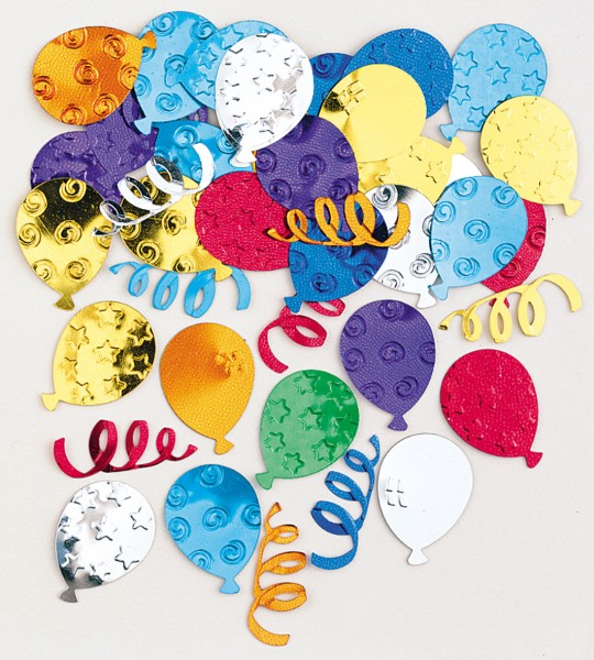 Bunte Party Streudeko Ballons & Luftschlangen 14g