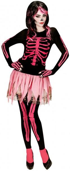 Pinkes Skeleton Galina Damen-Kostüm