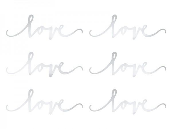 Schriftzug Love Papierdeko 6 Stk