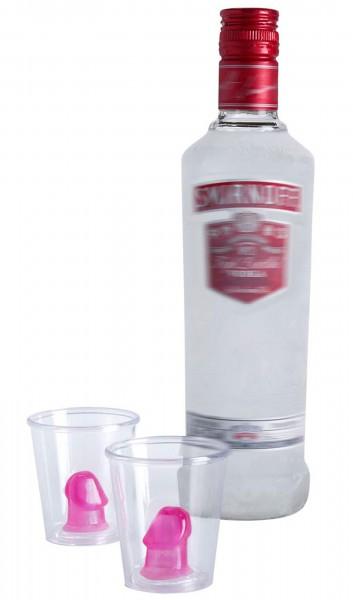 Ensemble de 2 verres à liqueur Pimmelmann