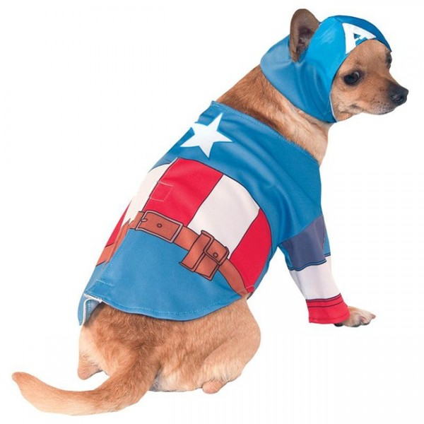 Avengers Captain America Hundekostüm 1