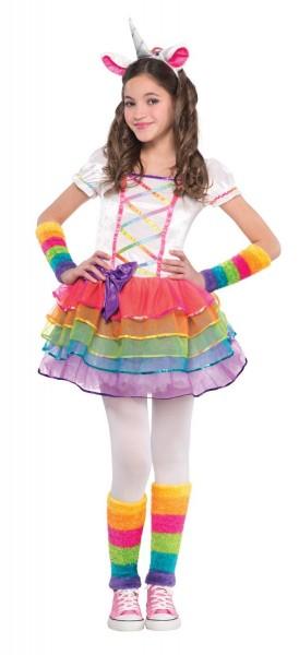 Disfraz de unicornio arcoiris para niña
