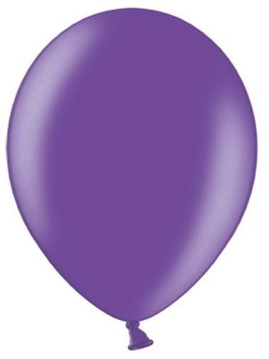 10 Partystar metallic Ballons lila 30cm