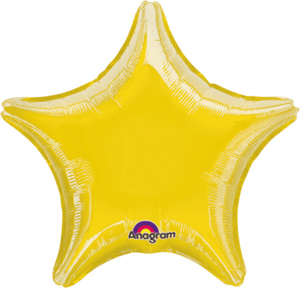 Sparkling Star balloon yellow