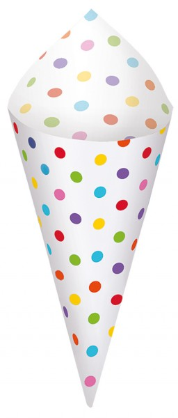 40 dotted cone bags, colored