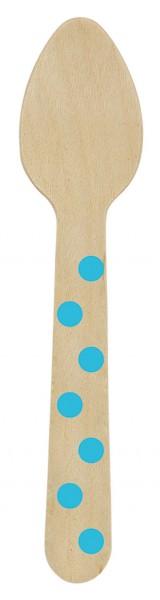 12 mini cucharas de madera Rainbow Dots