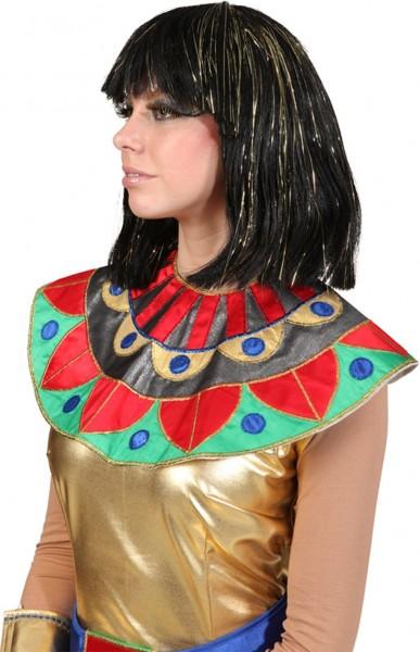 Kleopatra Perücke Mit Goldenen Strähnen