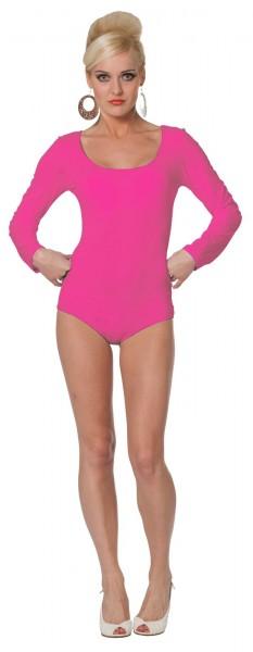 Body clásico de manga larga rosa