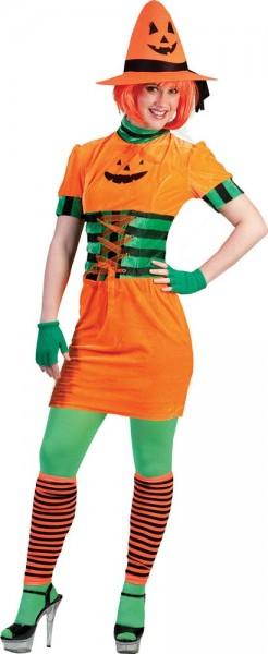 Schrilles Pumpkin Lady Damenkostüm