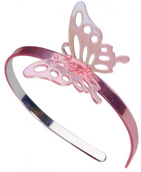 Rosa Schmetterlings Haarreif Für Kinder