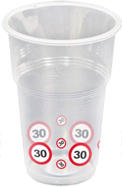 10 panneaux de signalisation 30 tasses 350ml