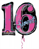 Sweet Sixteen Folienballon 71 x 66cm
