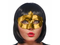 Partymaske Goldregen 8 x 24cm