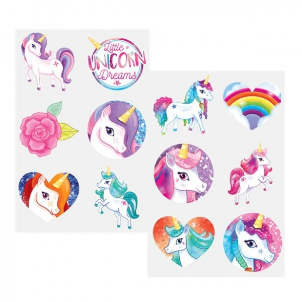 12 Temporary Unicorn Tattoos