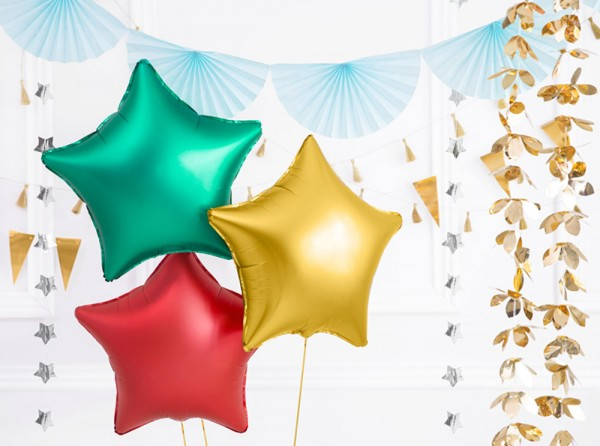 Gold Star Satin Folienballon 48cm