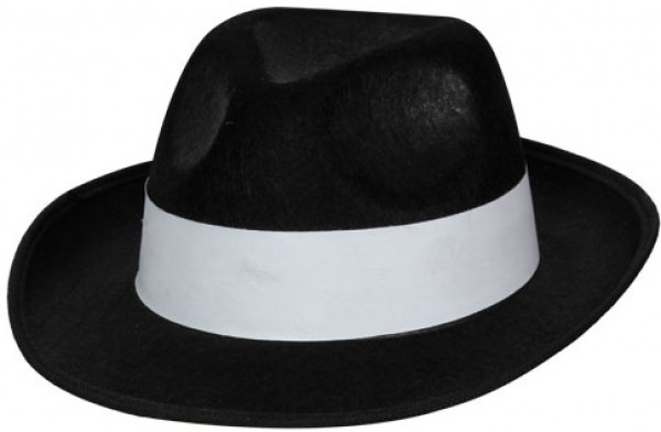 Mafia boss hat black