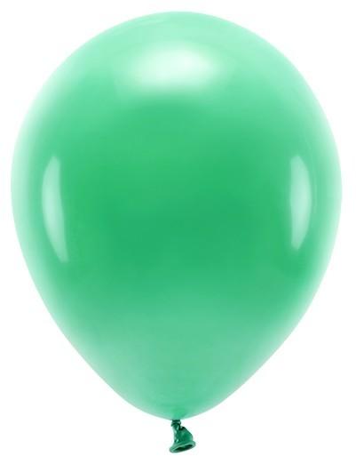 100 ballons éco pastel vert émeraude 26cm