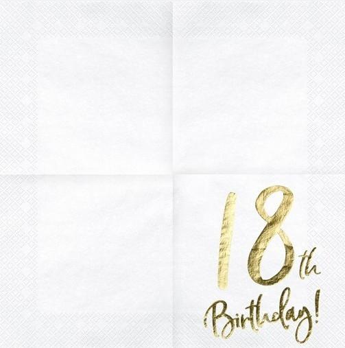 20 Glossy 18th Birthday Servietten 33cm