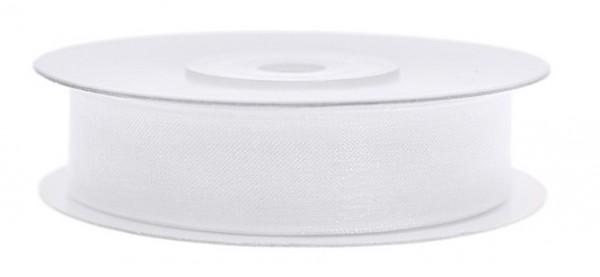 25m Geschenkband Satinoptik white
