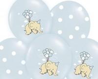 6 Boy Elephant Luftballons 30cm