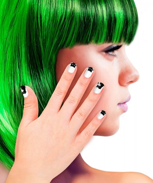 12 Cat Fingernails Black & White