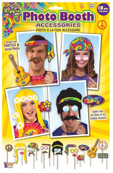 Photo Booth Hippie Accessoires